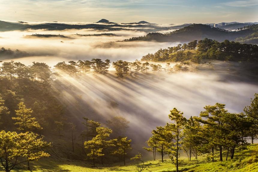 Săn mây tại Đà Lạt.